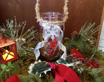 rose mercury glass mason jar christmas fairy lights 6 inch - Mason Jar Christmas Lights