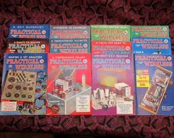 Practical Wireless Magazines 12 Issues From 1959, 1960, & 1961 Vintage