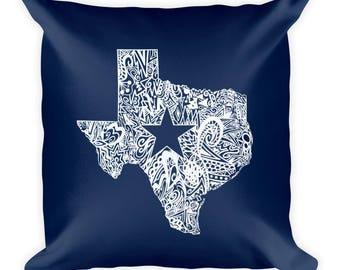 Dallas Pillow, Dallas Throwpillow, Texas Pillow, Texas Throw Pillow, Husband Gift, Boyfriend Gift, Moving Away Present, Texas Home Decor