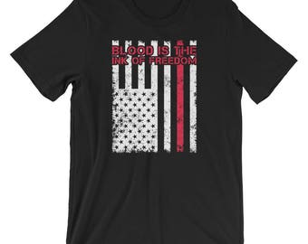 Blood Is The Ink Of Freedom America T-Shirt