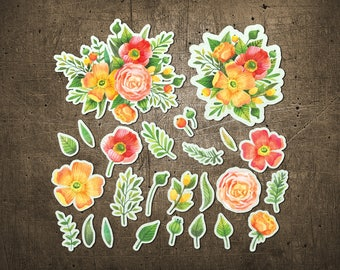"""Printed Chipboard Shapes #003 """"Flowers and Plants"""""""