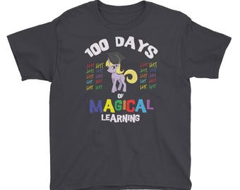 100 Days of Magical Learning Shirt for Kids Celebrating 100 Days of School