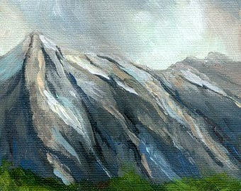 Mountains Original Acrylic Painting