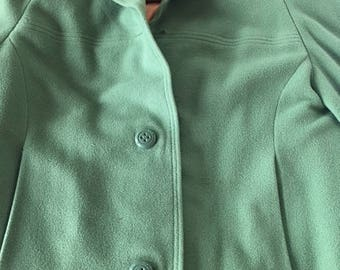 Green Cashmere Coat-100% Cashmere