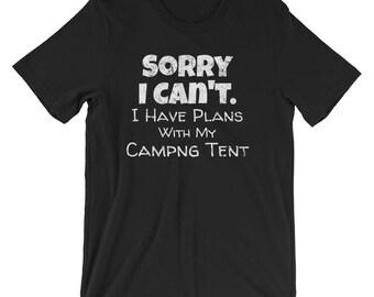 Camping Shirt / Camping T-shirt / Camping Shirts / Camping Shirt for Women / Excuses Shirt / Mens Camping Shirt /  Camping Tent