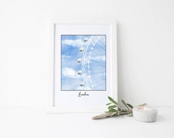 London Travel Art Print - London Eye
