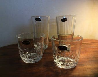 Drink glasses 24% lead crystal by Deplomb made in the USA