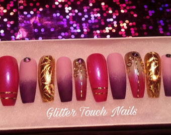 I Dream of Genie | Long Coffin Nails| Press on Nails | Fake Nails | Glue on Nails |