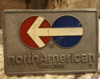 North American Van Lines Belt Buckle