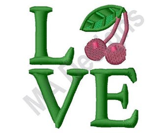 Love Cherry - Machine Embroidery Design