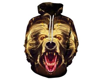 Bear Hoodie, Bear, Bear Hoodies, Animal Prints, Animal Hoodie, Animal Hoodies, Bears, Hoodie Bear, Hoodie, 3d Hoodie, 3d Hoodies - Style 1