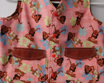 CLEARANCE! Size M Weighted Vest for Child w/Special Needs and Sensory Issues. Moana Print.