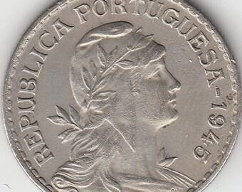 Portuguese colonie, Timor, 20 avos de 1945, alpaca coin