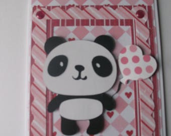 Sale- Panda Valentine's Day Card