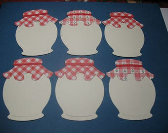 6 Die Cut Mason Jars