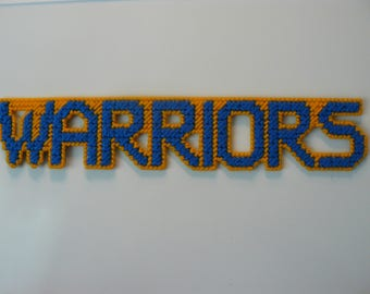 Warriors in Handmade, Needlepoint Magnets