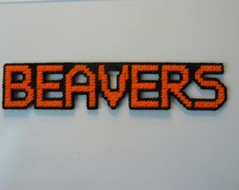 BEAVERS in Handmade, Needlepoint Magnets