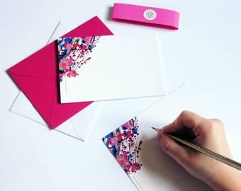 """10 Cards """"Cerisier"""" to send // Greeting cards // Postcards // Stationery // Writing paper // Envelopes"""