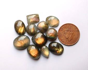 10pcs 118cts. 18x13mm 100% natural multi fire beautiful desgin labradorite Cabochon smooth hand polish jewelry making loos gemstone  SKU0076