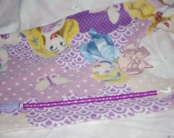 Disney Princess Purple & Pink Bib and Pacifier Clip Set