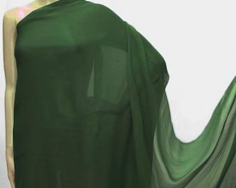 114cm /45 inches wide Forest Green Silk Georgette Chiffon Fabric 8mm Pure dressmaking material sheer CN-17 by the yards or by the meters