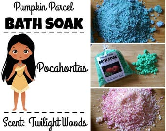 Pocahontas Bath Salts, Woodsy Bath Salts, Bath Bomb, Bath Soak, Fall Bath Salts, Autumn Bath Salts, Princess Bath Salts, Relaxing Bath Salt