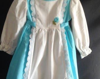 Little girls trimmed dress