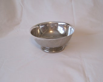 """Massive American Silver Plate Large Bowl with """"US CONGRESS"""" Seal"""