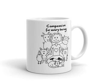 Compassion for every being - Mug made in the USA