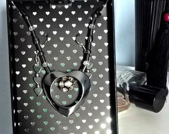 Hematite necklace and earrings set. Comes gift boxed
