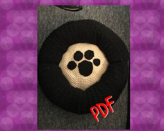 Tuto/pattern PDF coussin chien/chat crochet
