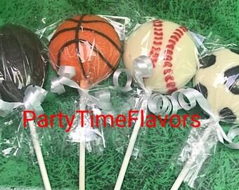 Sports Theme Chocolate Lollipops