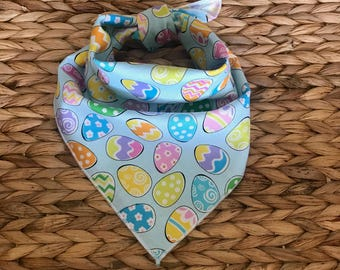 Tie On Easter Egg Dog Bandanas
