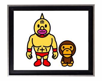 Bape x Wrestling Poster or Art Print (a bathing ape)