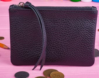 Leather wallet Minimalist wallet Ladies wallet Coin wallet Leather pencil case Women leather wallet Coin purse Coin pouch Gift for her