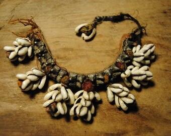 Tribal bracelet, vintage, shell, Banjara jewelry, Kauri