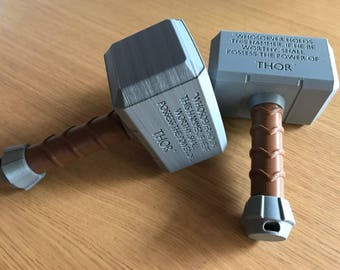 3D Printed | Thor Hammer | Mjolnir | Baby Toy | Rattle | Infant | Toddler | Marvel | Prop | Cosplay