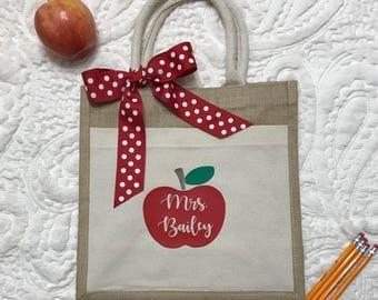Teacher Gift | End Of The Year Gift | Teacher Tote | Teacher Bag