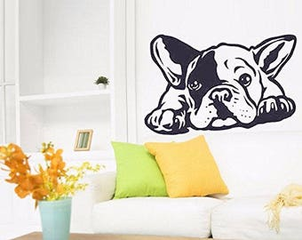 French Buldog Animals Dog Lovers vinyl wall decal interior design sticker art room home and business decor
