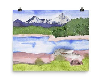 Colorado Mountains - Beautiful Archival Cotton Rag Fine Art Giclée Print Supporting the Nonprofit Fresh Artists