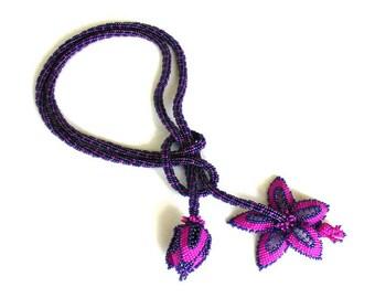 Fuschia Blossom Lariat Tutorial