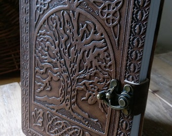 Celtic Tree of Life Leather Diary Journal