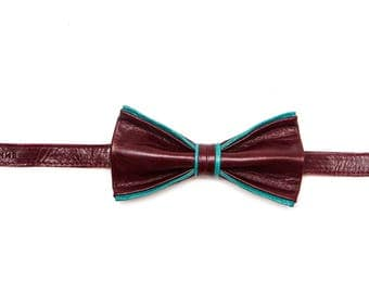 Royal Blood Leather Bow Tie