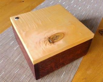 Jewelry Casket, solid wood, jewelry box