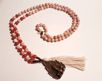 The Warrior mala, mala necklace, malabeads, gemstone beads mala, handmade mala