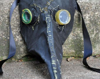 plague doctor mask victorian steampunk paper mache costume creepy scary LARP medieval masquerade renaissance cool handmade carnival bubonic