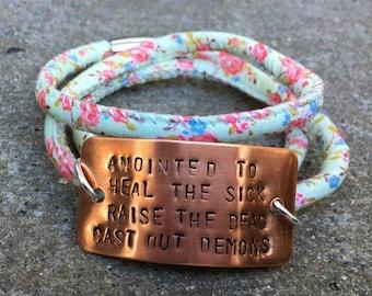 Anointed wrap bracelet