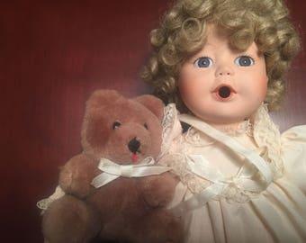 "12"" Porcelain Baby Doll"