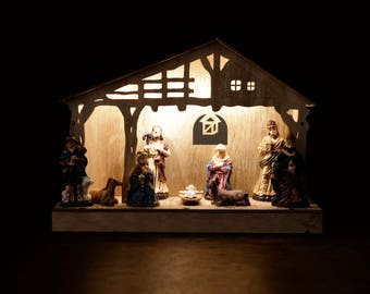 Light up Wooden Nativity Set