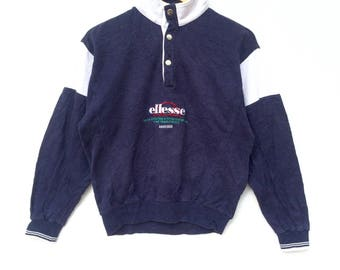 Ellesse Sweatshirt Multicolour Big Logo Embroidery Sweat Medium Size Jumper Pullover Jacket Sweater Shirt Vintage 90's